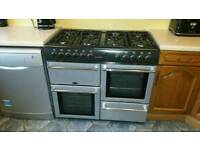 Belling gas hob/ electric oven double cooker