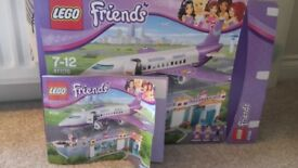Lego Friends - Aeroplane and Airport. Complete build with instructions and box