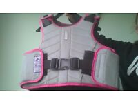 horse riding body preotector size 9-12yrs