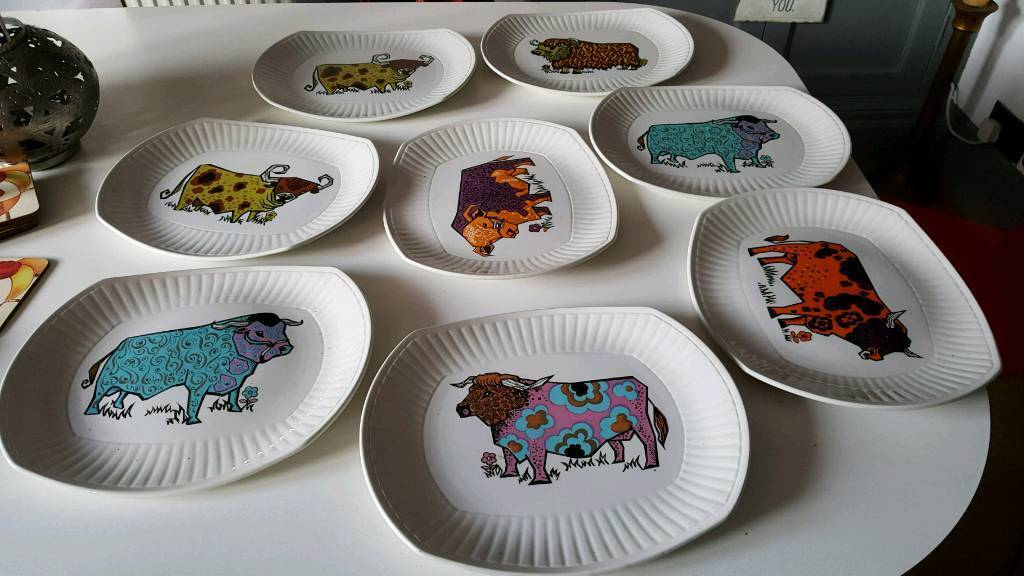 Beefeater plates x 8