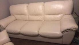 3 seat sofa and 2 seat leather seat