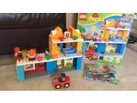 lego duplo 10835 town house with box and instructions