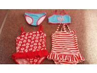 Age 2-3, 3-4 and 4-5 girls swimming costumes