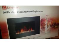 Wall mounted curved fire