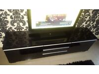 Tv unit high gloss black from ikea