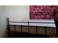 Make an offer. Kingsize Black Metal Sturdy Bed Frame Only.
