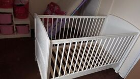 Cot bed couple months old perfect condition BARGAIN!!