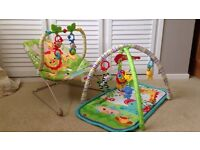 Fisher Price bouncy chair and play mat