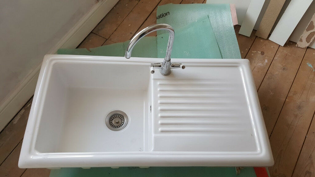 Beyaz Ceramic Kitchen Sink Used In Banbury