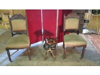 PAIR OF EDWARDIAN, CHAIRS, ANTIQUE, ONLY £55.00