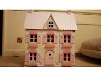 ELC Rosebud House Wooden Dolls House & Multiple Furniture Sets - All with Original Boxes - Excellent