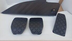 Audi A4 B7 Genuine foot pedal complete cover set 8E2 864 777, 8E2 721 173, 4D1 721 173, 8E0 721 173
