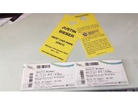 Justin bieber tickets x 4 - Monday 17th October