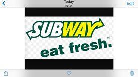 Subway Sandwich Artist Baillieston