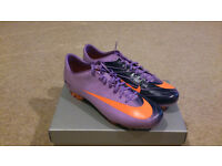 Nike Mercurial Vapor Superfly II FG Violet Poppy/Obsidian/Orange UK Size 11 (New)