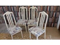 Dining chairs. Breakfast Chairs. Kitchen Chairs. Bedroom Chairs set of 4