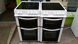 LOGIK DOUBLE OVEN CERAMIC ELECTRIC COOKER IN GOOD CONDITION & WORKING ORDER
