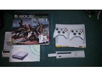 Xbox 360 Elite console 250gb with hd dvd player. 14 games, 19 films