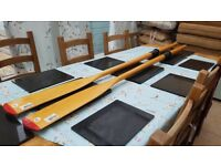 New and unused treated wooden Oars made by Plastimo 1.8m long.there top of the Range Oars