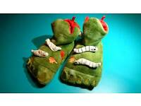 Kids 'monster' slippers, UK 13 size