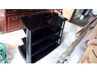 Solid Black Glass TV Stand Price Reduced