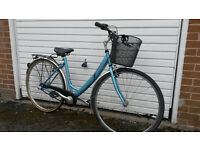 LADIES TOWN BIKE WITH BASKET & STAND