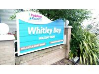DOUBLE GLAZED STATIC CARAVAN FOR SALE AT WHITLEY BAY HOLIDAY PARK SITE FEES INCL