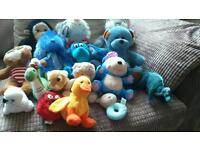 Lovely bag of mainly blue cuddly toys in great condition