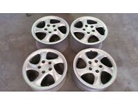 """SET OF ALLOY WHEELS PORSCHE 18"""" HOLLOW TWIST REFURBISHED 911 TURBO CARRERA 4 996 DELIVERY AVAILABLE"""