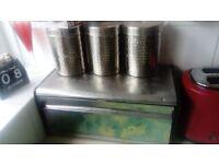 Stainless steel bread bin set