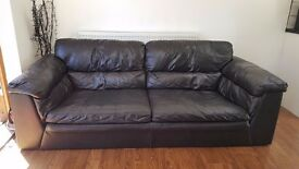 Italian 3 Seater Leather Sofa