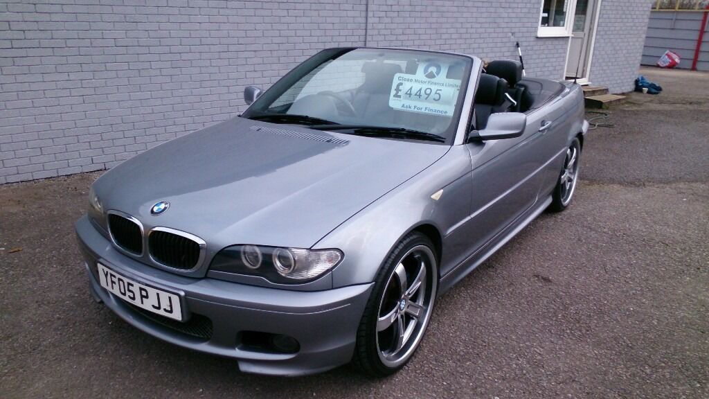 2005 bmw 320 cd sport 2 0l convertible grey feb 2018 mot 97k with f s h heated leather alloys cd. Black Bedroom Furniture Sets. Home Design Ideas