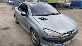 Peugeot 206 spares breaking cabriolet petrol