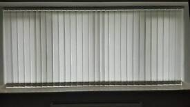 White vertical blinds (excellent condition)