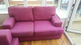 2 x DFS 2seaters in pink