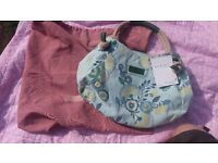 New Radley brie canvas bag with tags and cover bag