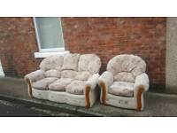 Sofa and arm chair free to good home must be collected today