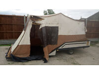 Trailer Tent. Instant up tent with same size awning extension.