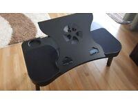 Black large laptop cooler foldable