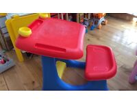 Childrens desk and seat
