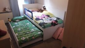 Children bed set with underbed