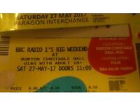 Radio 1 Big Weekend Saturday Ticket with travel pass