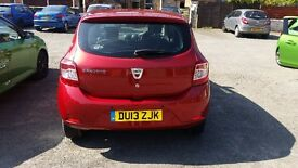 Dacia sandero lorretta .low mileage. Bluetooth and reversing sensors.