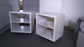 Gloss White Bedside Tabels matching pair