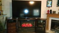 "In Kindersley 90"" Aquos sharp tv with stands"