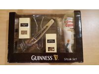 Guinness Steak Set : Griddle Pan Tea Towel Tongs Gift Set