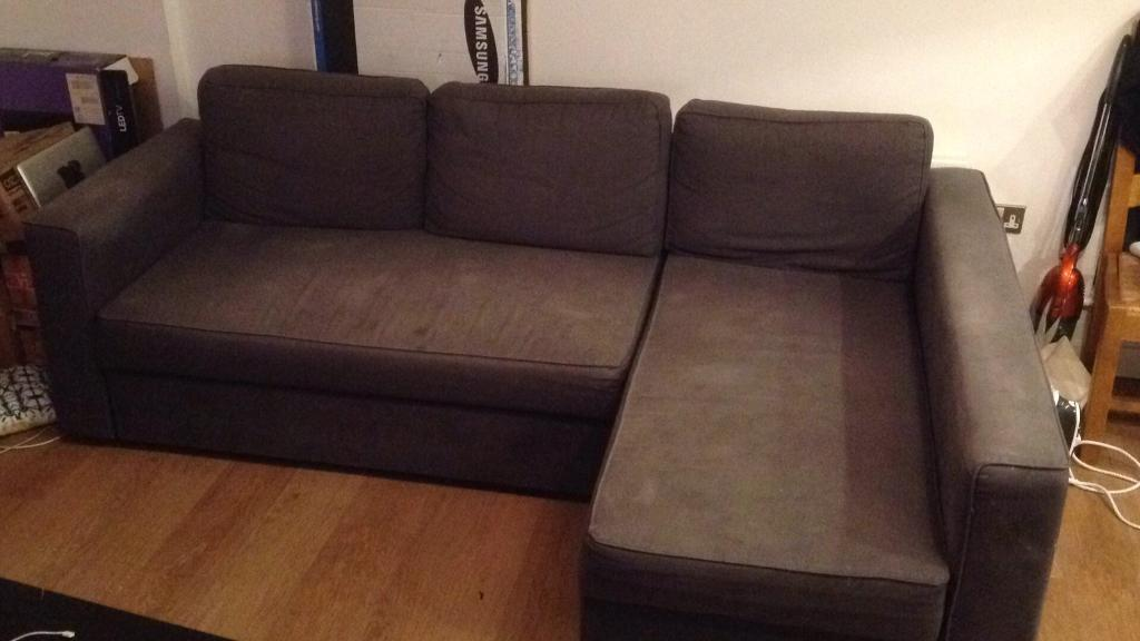 L Shaped Sofa Bed, armchair, coffee table