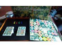Unused board game, nostalgia
