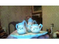 lovely minature coffe set blue and cream