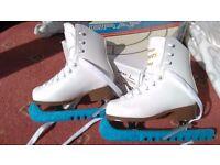 Graf Davos Gold White Ice Skates Size 28